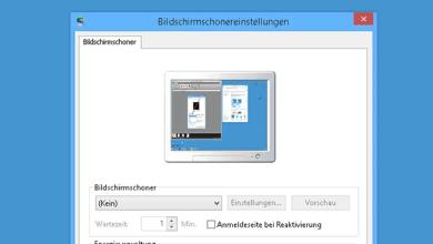 Photo of Bildschirmschoner deaktivieren oder aktivieren bei Windows 8.1