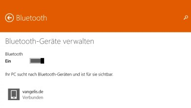 Bluetooth aktivieren bei Windows 8.1 0