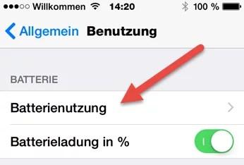 iphone batterienutzung