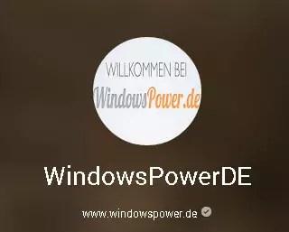 Google Plus windowspower_de