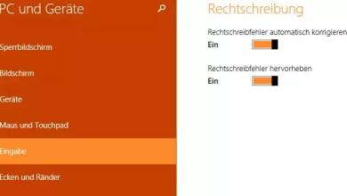 Windows 8.1 – Autokorrektur und Rechtschreibprüfung deaktivieren 0