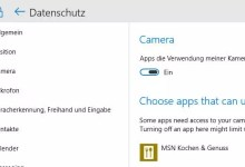 Webcam Camera bei Windows 10 aktivieren 0