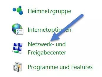 netzwerk freigabecenter