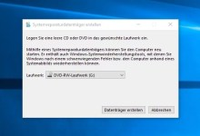 Photo of Windows 10 Recovery CD erstellen
