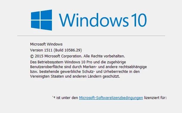 Windows 10 Version Anzeigen