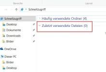 Photo of Zuletzt verwendete Dateien im Schnellzugriff anzeigen – Deaktivieren bei Windows 10