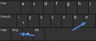 Tastatur Browserfenster