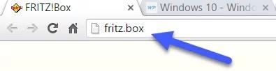 Benutzeroberflaeche der FRITZBox aufrufen