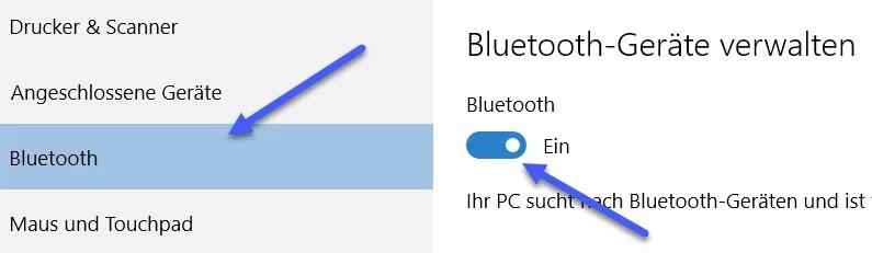 bluetooth geraete verwalten