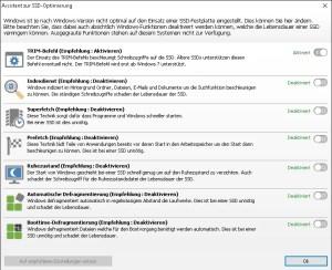 SSD optimierung
