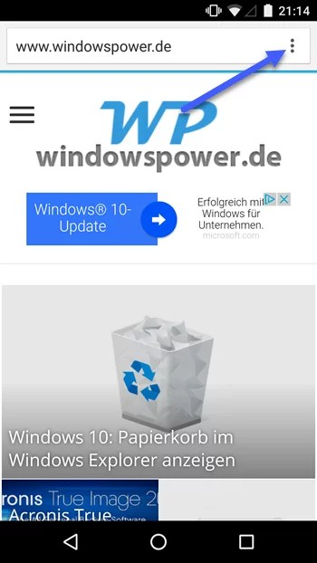 chrome browser einstellungen