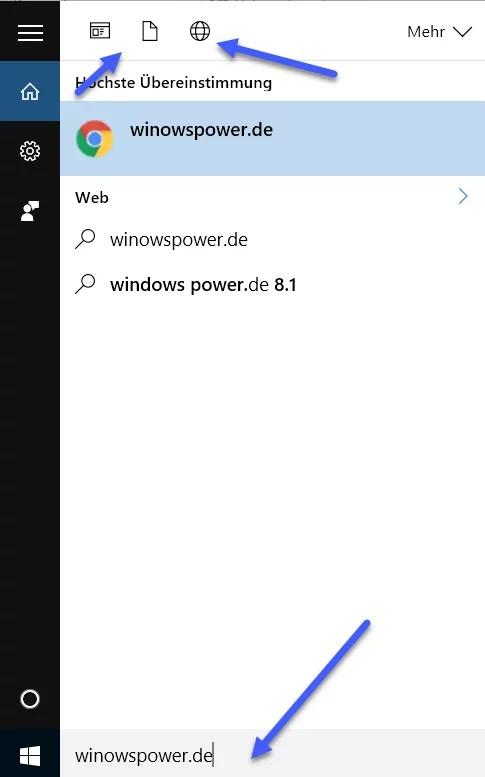 windows 10 suche