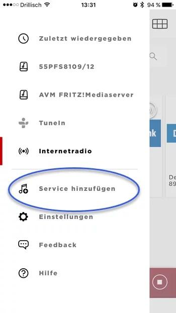 soundtouch app service hinzufuegen