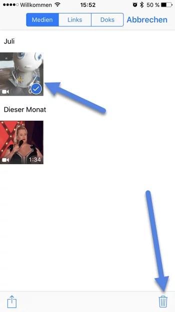 iPhone Medien Bilder Videos löschen