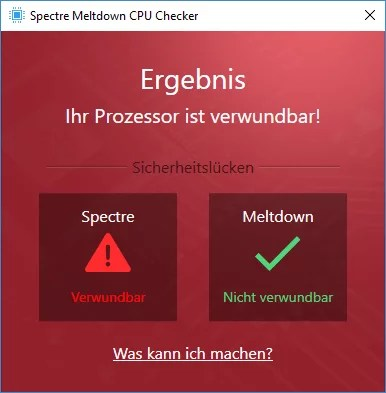 Ashampoo Spectre Meltdown CPU Checker