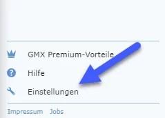 gmx einstellungen