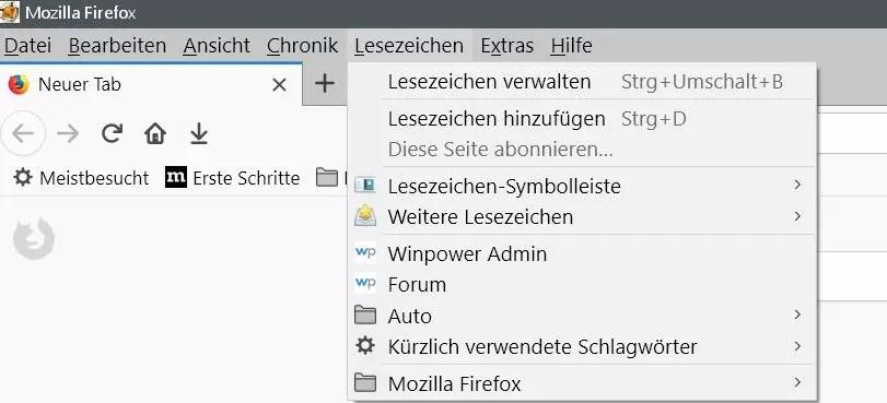 Firefox Den Lesezeichenordnern ein anderes Icon vergeben 1