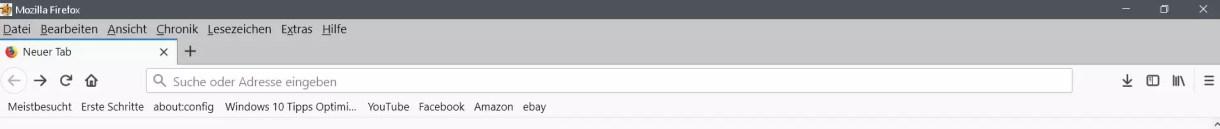 Firefox Lesezeichensymbolleiste ohne Text anzeigen 5