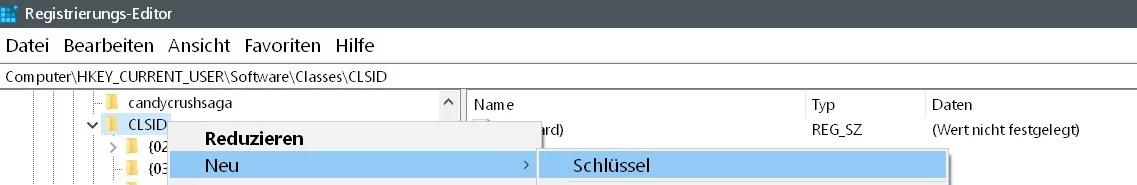 clsid-neuer-schluessel