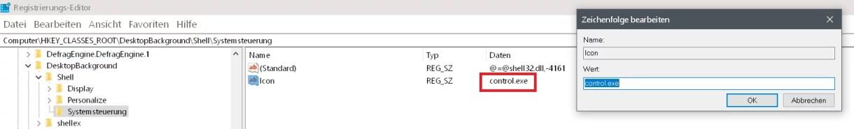 Windows 10 Systemsteuerung ins Kontextmenü hinzufügen 7