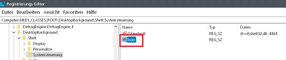 Windows 10 Systemsteuerung ins Kontextmenü hinzufügen 6
