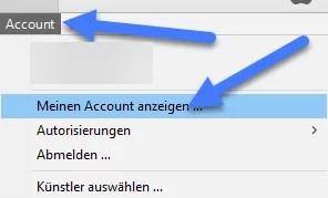 meine account anzeigen