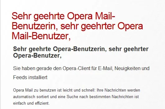 Opera Mail Client 0