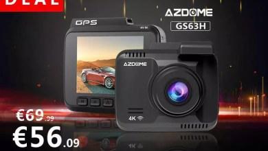 AZDOME 4k Dashcam WIFI GPS 2160P 4K/30FPS Wasserdicht mit 2,4″ DIsplay für 56,09 € statt 69,99 € – Nur Heute 0