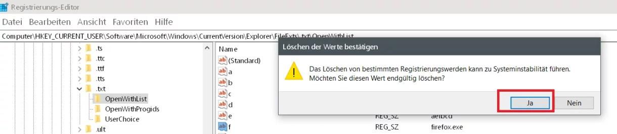 Windows 10 Öffnen mit.. Einträge im Kontextmenü ändern 9