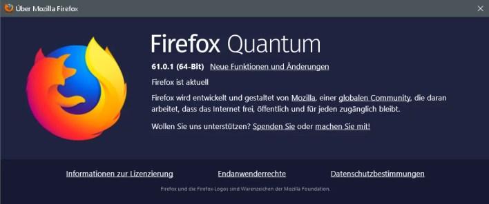 firefox 61.0.1