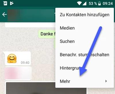 WhatsApp Chat sichern