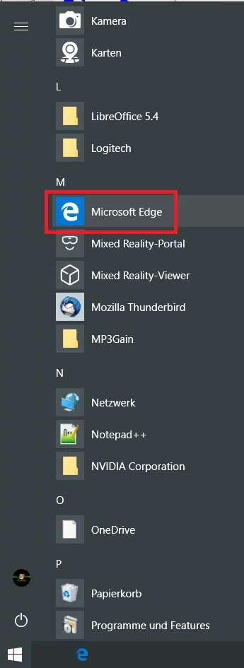edge auf den desktop ziehen