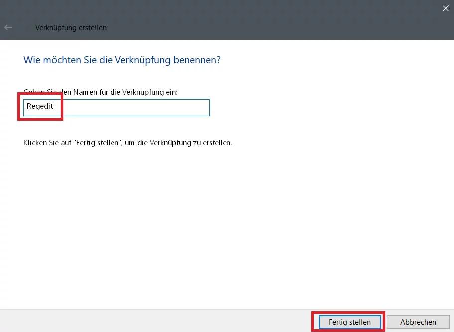 Registry Editor – Verknüpfung in der Taskleiste 2
