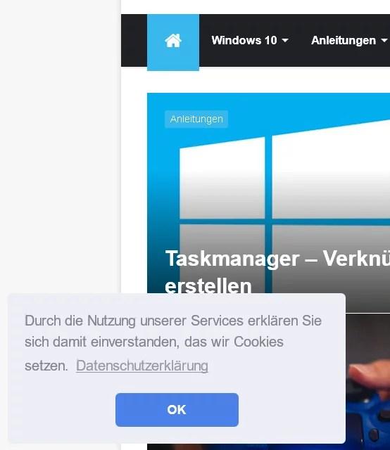 Cookie-Hinweis auf Webseiten ausblenden im Firefox 0