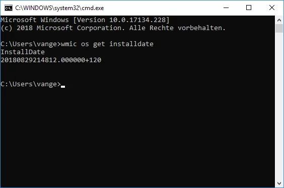 Installationsdatum von Windows 10 anzeigen lassen 3