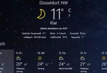 Photo of Windows 10 – aktuelle Wetter auf dem Desktop anzeigen