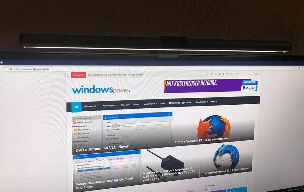 BenQ ScreenBar E-Reading-LED-Task-Lampe Schreibtischlampen