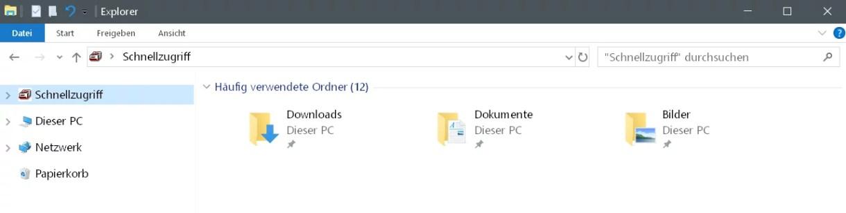 Laufwerke im Schnellzugriff anzeigen Windows 10 1