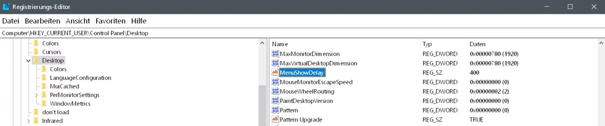 Startmenü Darstellung beschleunigen unter Windows 5
