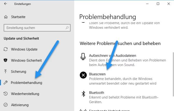 windows 10 problembehebung