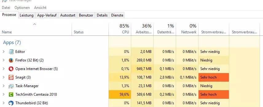 Windows 10 Task Manager deaktivieren 0