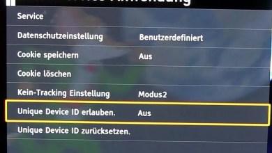 Panasonic OLED TV Datenschutz & HbbTV Einstellungen 0