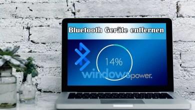 Windows 10 Blueetooth Geräte entkoppeln 0