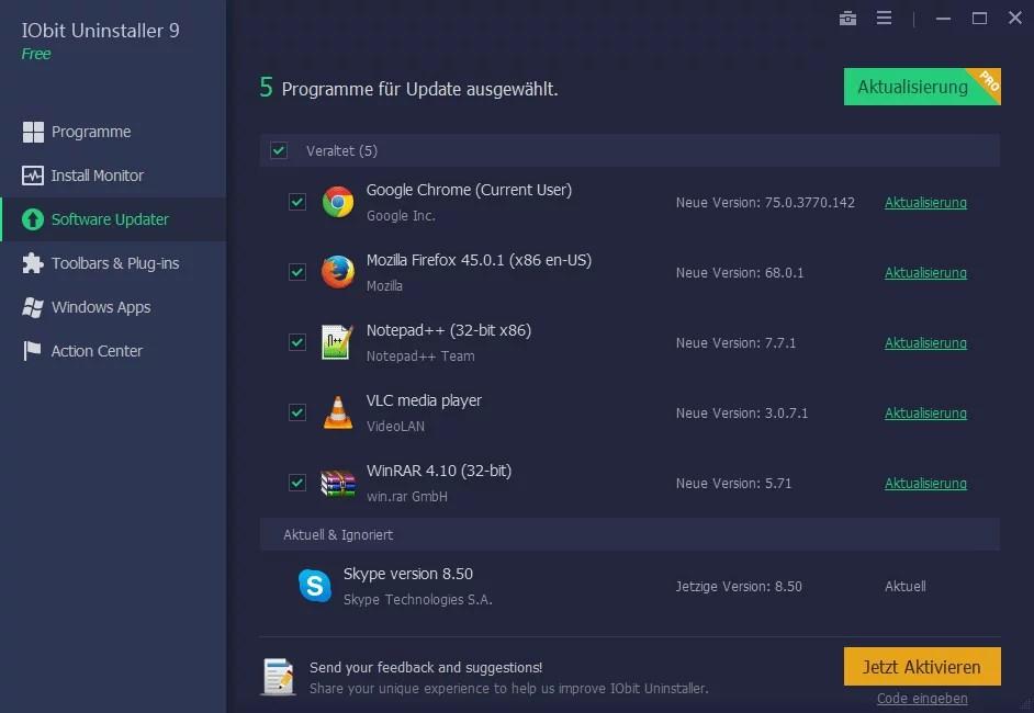 5. software updater
