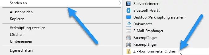 ZIP-Datei erstellen
