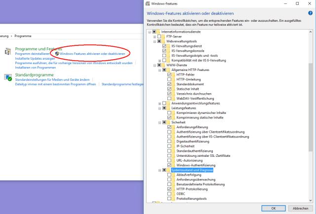 Web-Server (IIS) unter Windows 27 installieren und konfigurieren