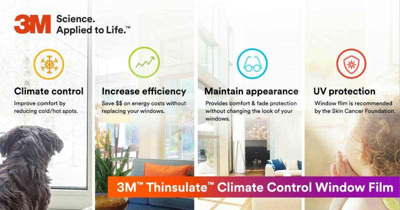 Upgrade Existing Windows in Your Home with 3M Thinsulate - Home Window Tinting in Omaha, Nebraska