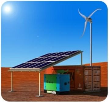 wind-diesel hybrid system