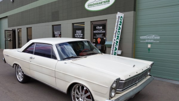 1965 Ford Galaxie 500 new auto glass at Crackmasters Edmonton West end
