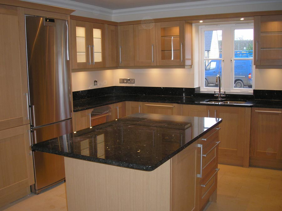 granite kitchen childrens wooden play kitchens marble windsmere sto emerald pearl black worktops from finland was used with glamorous effect in these